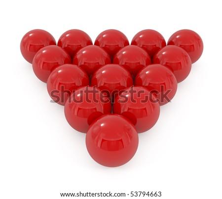 Stock Photo Billiard balls isolated on white - 3d illustration