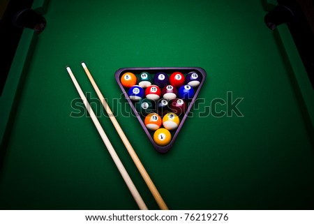 Billiard balls - pool - stock photo
