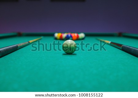 Billiard Layers Are Set Up By The Pyramid On A Billiard Table EZ - How do you set up a pool table