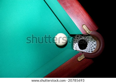 snooker how to get position from ball in pocket