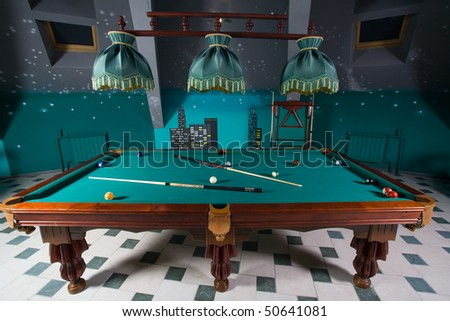 Billiards placed at attic of the building