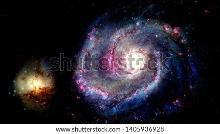 Billions of galaxies in the universe. Abstract space background. Elements of this image furnished by NASA