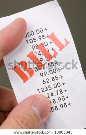 bills Close up shot, financial concept