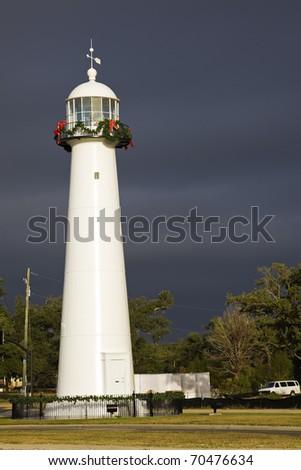 Biloxi Lighthouse in Mississippi, USA.