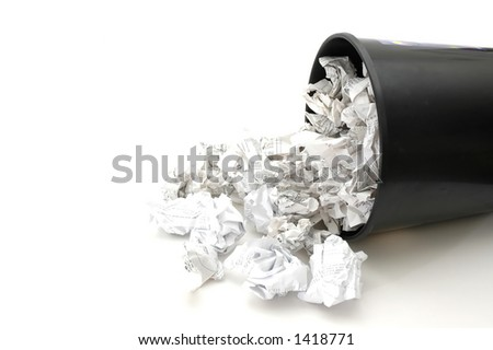 Bin Filled with Trash