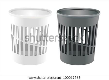 bin set isolated on white