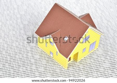 Binary code and model house