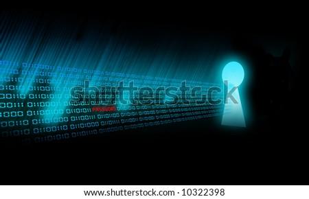 Binary Code goes to a keyhole