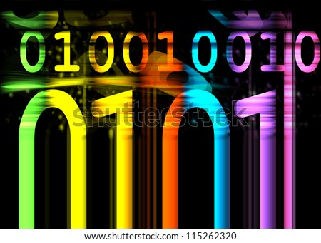 Binary Number colorful