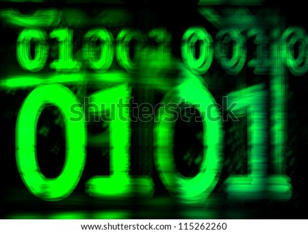 Binary Number Grudge - stock photo