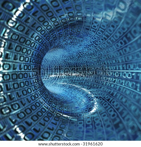 binary stream - stock photo