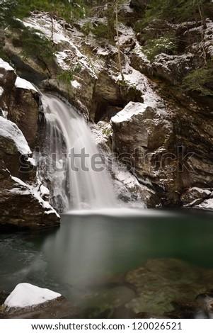 Bingham Falls in Stowe, Vermont.