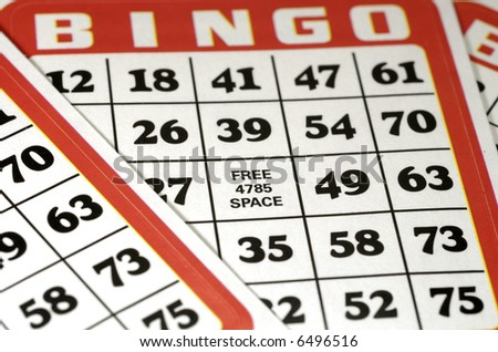 Bingo Cards - Background - Game Related - stock photo