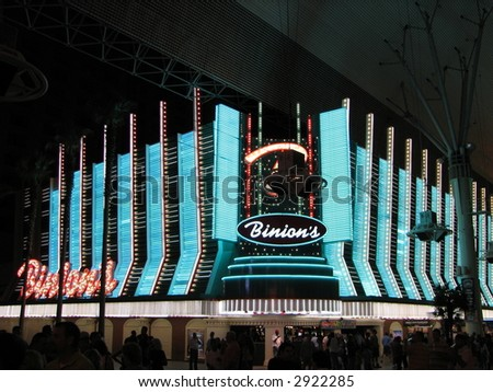 Binion's in Las Vegas, NV Seen From Fremont Street