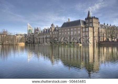 Binnenhof. Dutch Parliament in The Hague, Holland