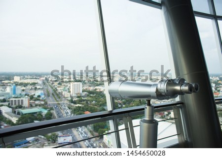 binoculars From the viewpoint of tall buildings #1454650028