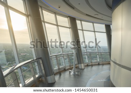 binoculars From the viewpoint of tall buildings #1454650031