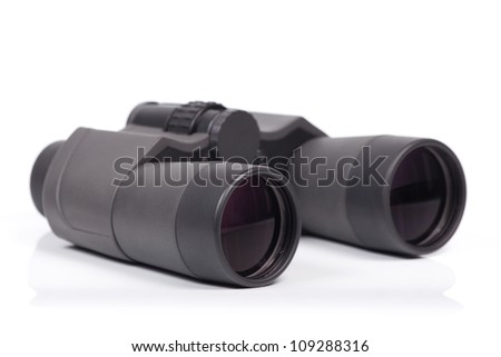 Binoculars isolated on white background.