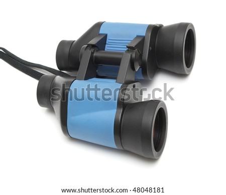 binoculars isolated on white background