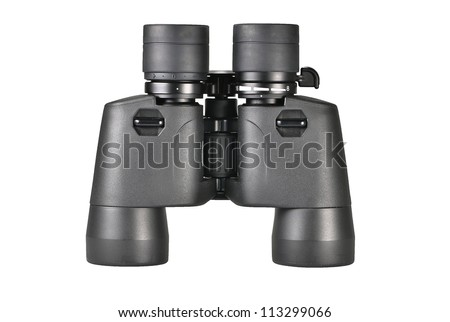 Binoculars on the white background (with clipping path)