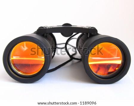binoculars on white - Shutterstock ID 1189096