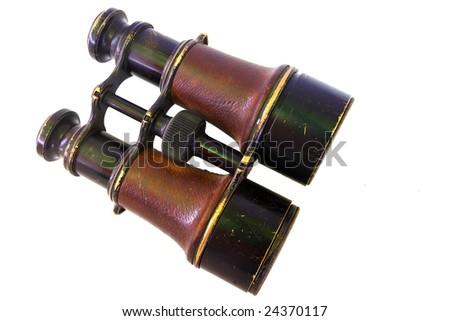 Binoculars on white background