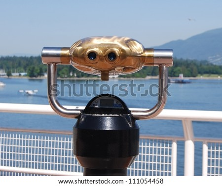 Binoculars to Observe Stanley Park and, North Vancouver in Canada