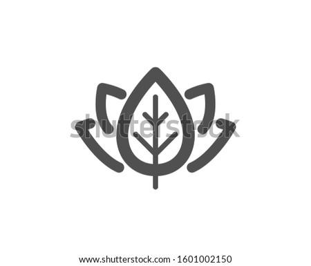 Bio cosmetics sign. Organic tested icon. Fair trade symbol. Classic flat style. Simple organic tested icon.