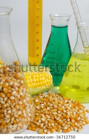 Bio fuel concept with corn and chemicals