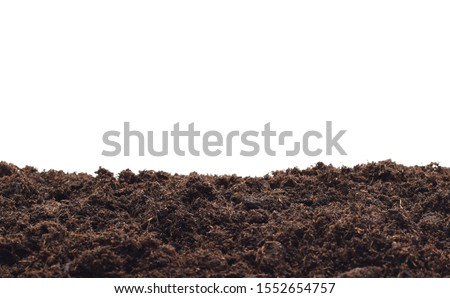 bio ground or soil substrate as frame or border isolated on white