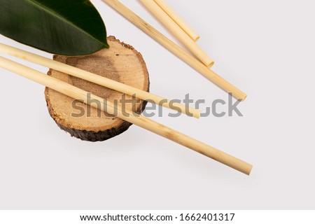 Biodegradable Straws  100% Natural Organic Eco Friendly Disposable Drinking Grass Straws – Perfect Alternative to Plastic, Paper, Metal. Straws Based Products Made from Wheat Hay - Eco Friendly Stock photo ©