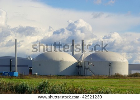 stock photo : biogas plant