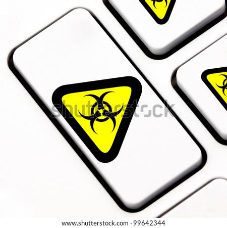 Biohazard keyboard key