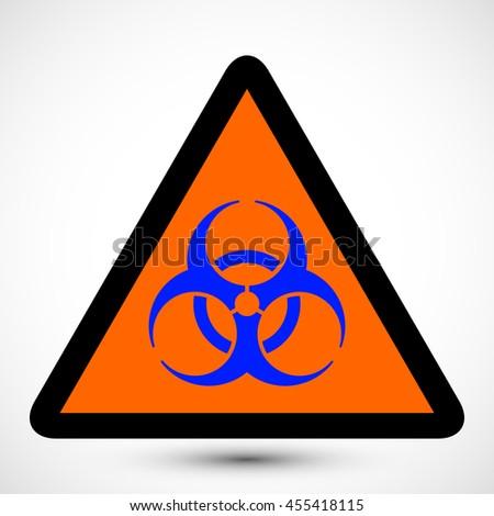Biohazard Symbol On Backgroundlustration Of Biohazard Icon
