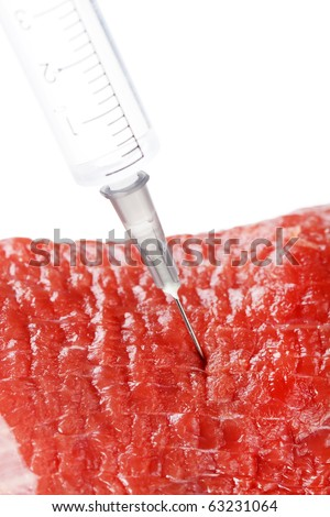 biological probe from a beef - stock photo
