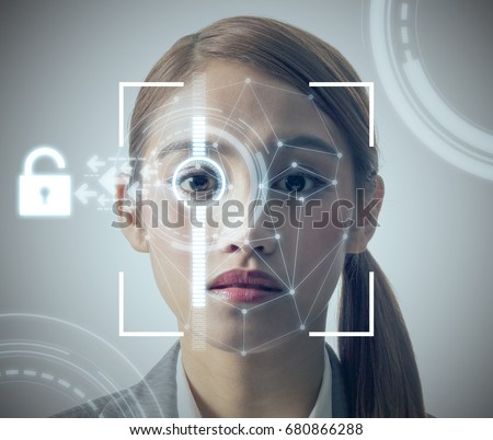 The Fingerprint shows on facial skin sorry, that