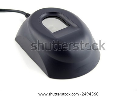Biometric Fingerprint device on an isolated white background