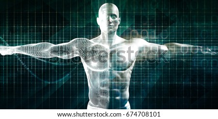 Biotechnology or Biology Technology Biotech as Concept 3D Render