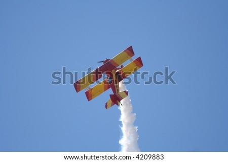 biplane at airshow