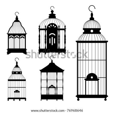 Vintage Bird Cages Gratuit Art vectoriel   Vecteezy