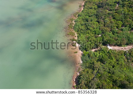 bird eye view , top view of sea - stock photo