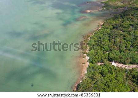 bird eye view , top view of sea