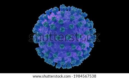 Bird flu Influenza Virus 3d rendering medical illustration surface structure avian Photo stock ©
