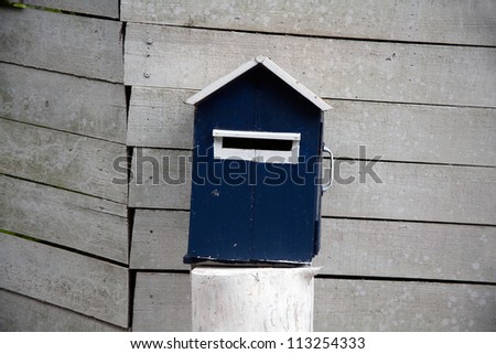 bird house on the wood wall