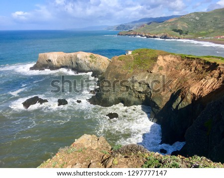 Bird Island Pacific Coast #1297777147