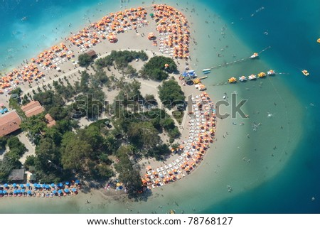 Bird's eye view of beach.Oludeniz,Turkey