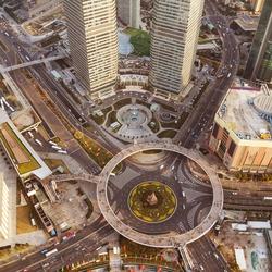Bird's eye view of the crossroads
