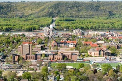 Bird's Eye View of Winona, Minnesota Looking East