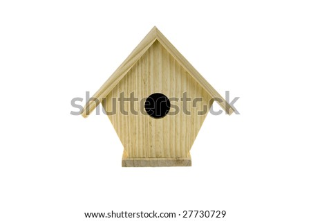 Birdhouse, isolated on white