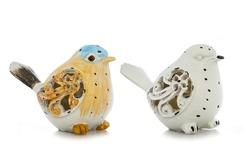 birds ceramic isolate is on white background